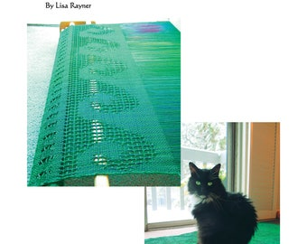 EBook Leno Lace Iridescent Wave Shawl instant digital download rigid heddle loom weaving book handwoven