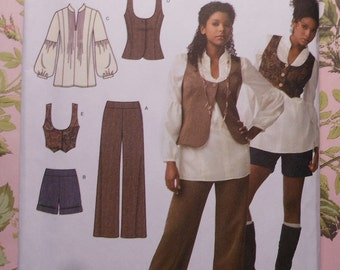 Vest, Top, Pants, and Shorts Sewing Pattern UNCUT Simplicity 3690 Sizes 4-12