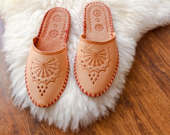 Womens Slippers, Shoe Slippers  Leather Slippers spring summer Slippers  House Shoes slippers  Gift for Her House Slippers Handmade Slippers