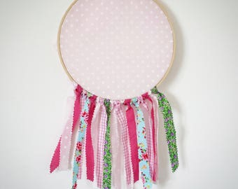 pink wish dream catcher