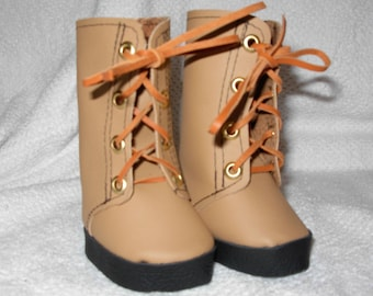 Leather Boots for 18 inch dolls will Wow your doll friends this winter!