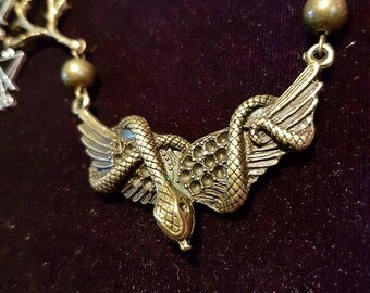 Luciferian necklace - fallen angel serpent snake occult lefthandpath baphomet gothic goth sigiloflucifer sigils witch blackmagic