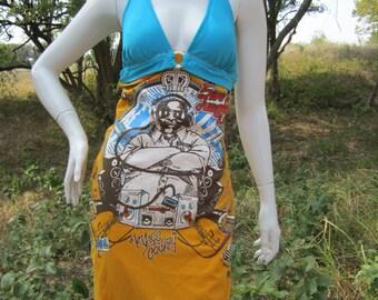 5ive Jungle DJ t shirt bikini dress