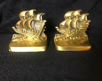 Brass boat bookends