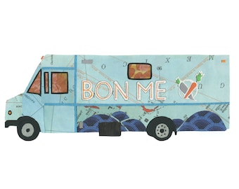 Bon Me 5x7 Print - Boston Food Trucks