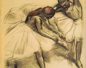 "Edgar Degas ""Two Dancers 1900"" L. E & numbered Giclees"