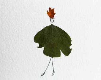 Greeting Card/Petite Art - Crowned Clover Woman