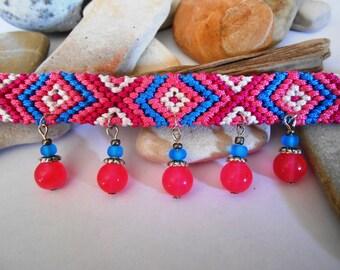 Friendship Bracelet | Woven Bracelet | Stone Bracelet | Friendship Gift | Friendship Jewelry | Friend Gift | Boho Jewelry | Knotted Bracelet