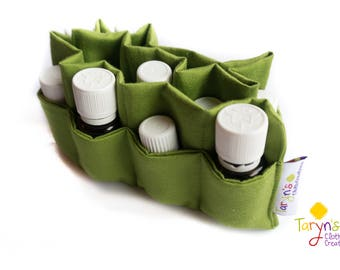 Essential Oils Case Insert, padded insert, divided pocket, doTerra Storage, Young Living Oils , Essential Oils Storage, Essential Oil Travel