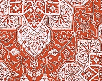 Tarragon in coral by Thibaut - One Pillow