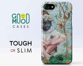 Gucci Monkey iPhone 7 Tough case 5 5S 5C SE 6 6S 8 Plus X Phone Cover Gift Protection Style Gucci Monkey