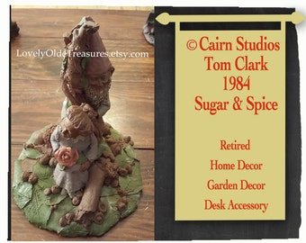 REDUCED 1984 Cairn Studios Figurine- Sugar & Spice- Handcrafted Sculpture- Tom Clark- Retired Cairn Studio Design- Gnome- NC Artist