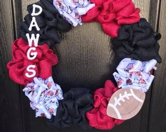 Bulldogs and Burlap University of Georgia Wreath