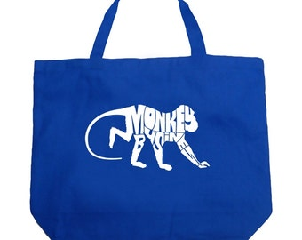 Large Tote Bag - Monkey Business