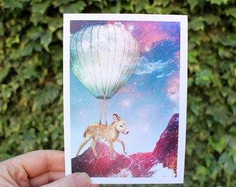 Donkey on a Journey   Greeting card