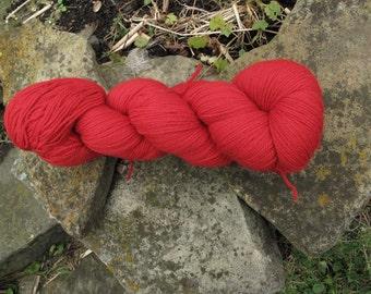 Scarlet 3/8 Fine Merino Organic Wool Yarn Green Line