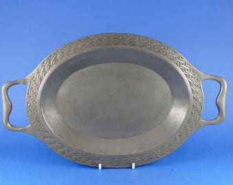 LIBERTY & Co - English Pewter 01201 - Tudric Pewter Two Handled Tray