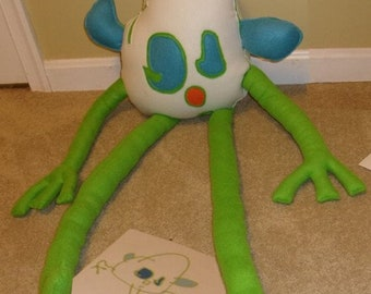 Kids drawing to toys: Ghost - a child's imagination transformed into a friend.