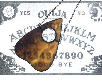 Sepia Swirl - Hanging Glass Planchette - Ouija