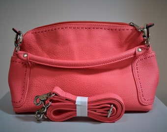 Leather French with removable & adjustable strap handbag