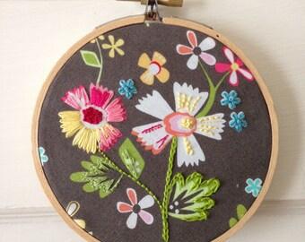 Prairie Flowers - Hoop Embroidery