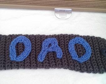 Dad Grey and Blue Mug Cozy/Mug Hug