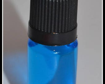 10 ml bottle liquid blue transparent to fill your globes