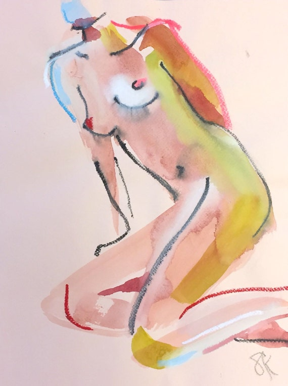 Nude painting#1382  Original painting by Gretchen Kelly