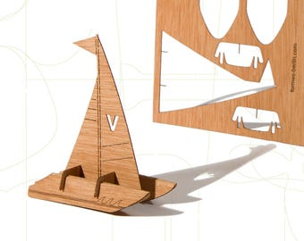 postcard wood - catamaran 3 cards