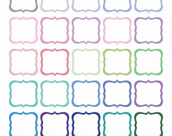 Digital Frames and Borders Clip Art - Cute Frame Clipart - Instant Digital Download Commercial Use Images