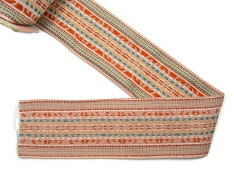 "Multi Colored Woven Trim 6 yards Polyester/Cotton 2"" wide"
