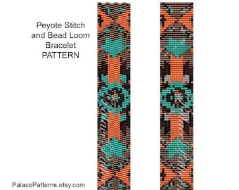 Bead Loom Bracelet Pattern and 2 Drop Peyote Stitch Bracelet Pattern – Tribal 8