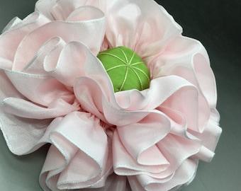 Pink Ribbon Flower Millinery Appliqué Giant Size