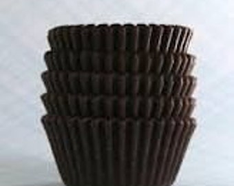 250 Chocolate Brown STANDARD SIZE Cupcake Muffin Liners Baking Cups Wrappers (Free Shipping!)