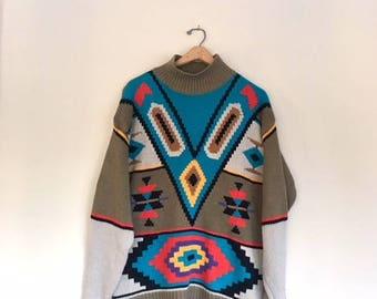 80s Southwestern Knit Sweater