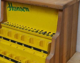 vintage hardware store display: Hanson brand, drill bit storage