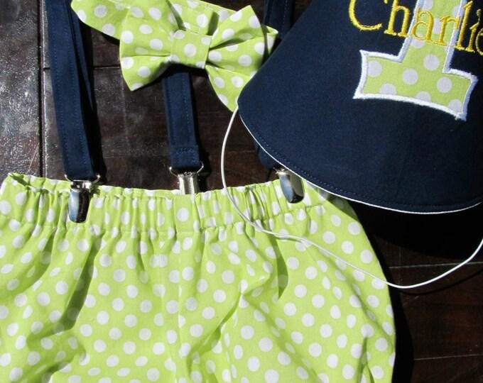 Cake Smash Set, Smash Cake Outfit, Birthday Outfit Bowtie Suspenders,