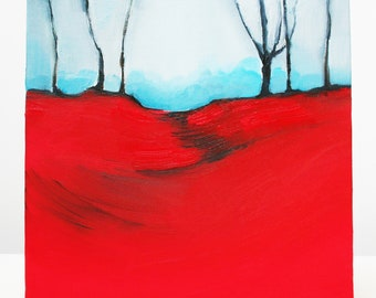 Red Forest (an original oil painting)