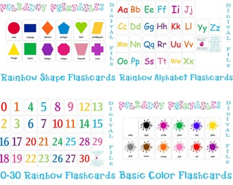 Printable Flashcards Combo Pack - Instant Download