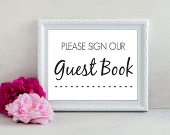Wedding Guest Book Sign, Wedding Sign, Guest Book, Wedding Printable, Download, Wedding Signage