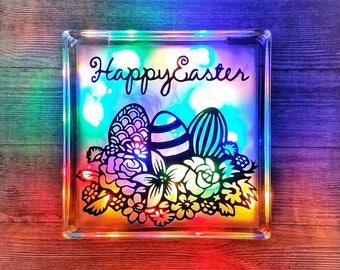 Easter Spring Decor, Spring Decorations, Easter Table Decorations, Easter Table Decor, Spring Home Decor,  Easter Egg Decor, Easter Lights