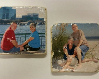 Personalized Stone Tile Coasters
