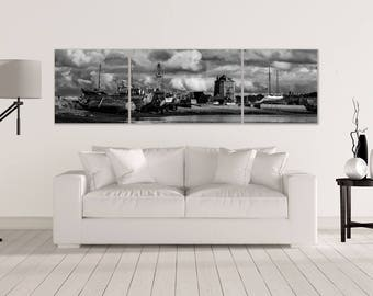 "Triptych ""Camaret - sur - Mer"", 3 art prints backed on Alu Dibond"