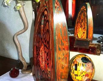 """INLAY wood """"MANDALA"""" HT mood lamp: 45"""