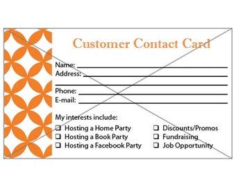 Gold Canyon Customer Contact Card