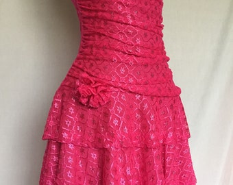 80's style Pink Party Dress