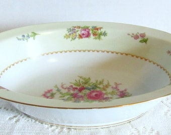 Gorgeous Vintage Rose China Occupied Japan Round Handled Bowl Tureen