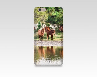 Wild Horse Phone Case, iPhone 7 case, Samsung S7, iPhone 6, iPhone 5, Samsung S6, Equine Photography, iPhone 7 Plus, Outer Banks NC