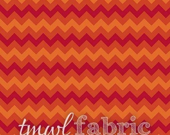 Woven Fabric - Flame Tonal Chevron - Fat Quarter Yard +