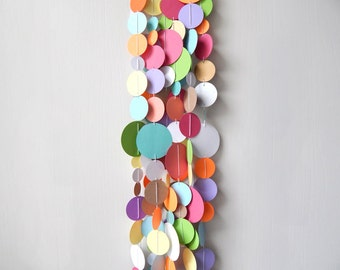Circle Garland Colorful / Nursery Bunting / Party Garland / Spring Garland / Easter Garland / Photo Prop / Classroom Decor